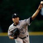 Chicago White Sox starting pitcher Jose Quintana delivers against the Colorado Rockies in the first inning of a baseball game, in Denver. The Chicago Cubs acquired left-handed pitcher Jose Quintana from the Chicago White Sox for outfielder Eloy Jimenez, right-handed pitcher Dylan Cease, and infielders Matt Rose and Bryant Flete, Thursday, July 13, 2017. (AP Photo/Joe Mahoney, File)