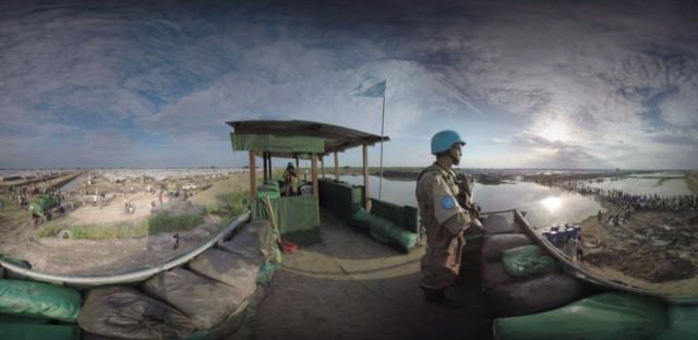 UN peacekeeping camp for displaced people in Bentiu, South Sudan.