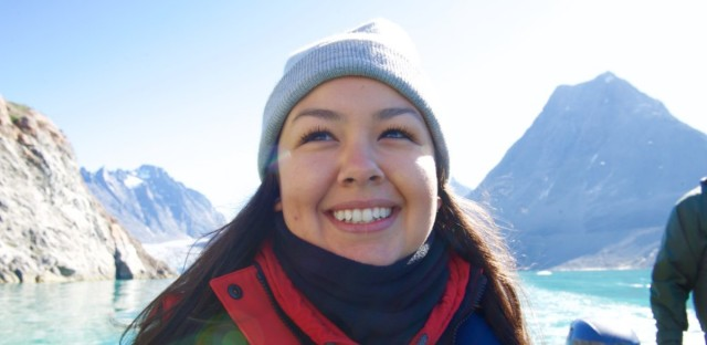 Maatalii Okalik is a former president of the National Inuit Youth Council. In this role, she promoted and practiced Inuit languages, cultures, suicide prevention, education, empowerment, and reconciliation.