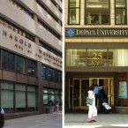 Harold Washington College (left) and DePaul University (right).