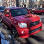 Pickup trucks on Lake Shore Drive and in Chicago neighborhoods.