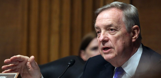 U.S. Sen. Dick Durbin appears, on Capitol Hill in Washington. Speaking on WBEZ, Durbin said without a special prosecutor, he is worried Donald Trump's abrupt dismissal of FBI Director James Comey could be the end of the agency's investigation into Russian meddling in the 2016 election.