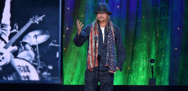 Kid Rock at the 2016 Rock And Roll Hall Of Fame Induction Ceremony