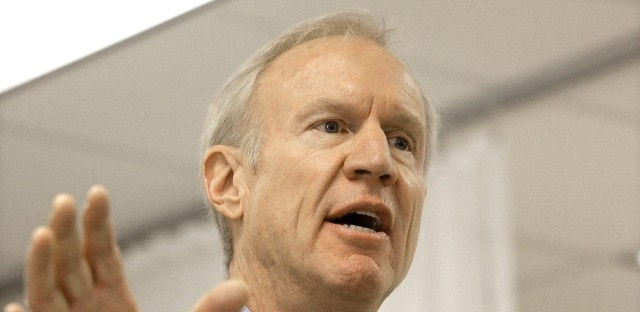 Illinois Gov. Bruce Rauner speaks to reporters during a news conference in October 2016.