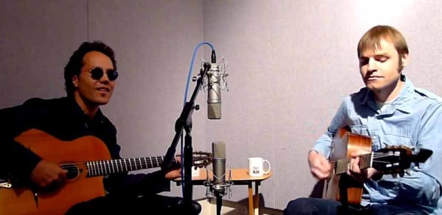 Alfonso Ponticelli and Adrian Holovaty of Swing Gitan perform on 'Eight Forty-Eight'
