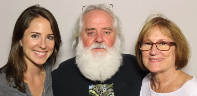 Sean Callaghan at StoryCorps Chicago with his wife, Deborah Callaghan and daughter, Brigit Callaghan Stacey.