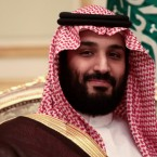 Mohammed bin Salman has risen from Saudi Arabia's deputy crown prince to the heir to the throne. He's seen here during a meeting with U.K. Prime Minister Theresa May in April.