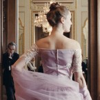 Daniel Day-Lewis (left) plays a renown fashion designer, and Vicky Krieps is his muse, in Phantom Thread.