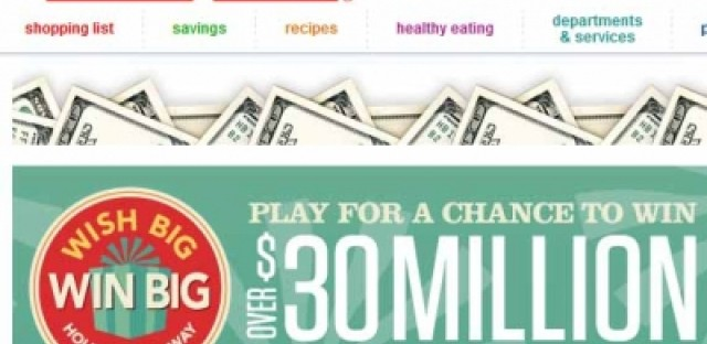 List: Prizes from the Jewel-Osco Wish Big Win Big Holiday Giveaway I have been one ticket away from winning for an annoyingly long time