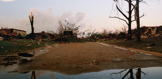 Joplin, Missouri after the 2011 tornado that killed 162 people.