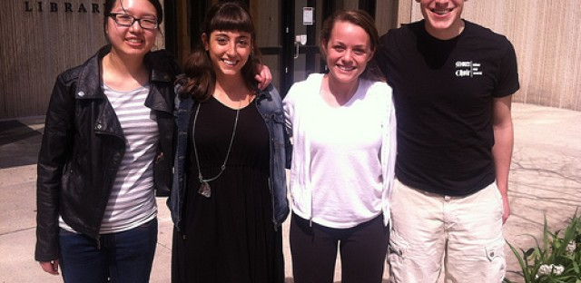 Our University of Chicago team from right to left: Alice Ye, Begum Cital, Samantha Brown, Sam Brandt.