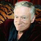 Hugh Hefner at his Playboy Mansion home in 2006.