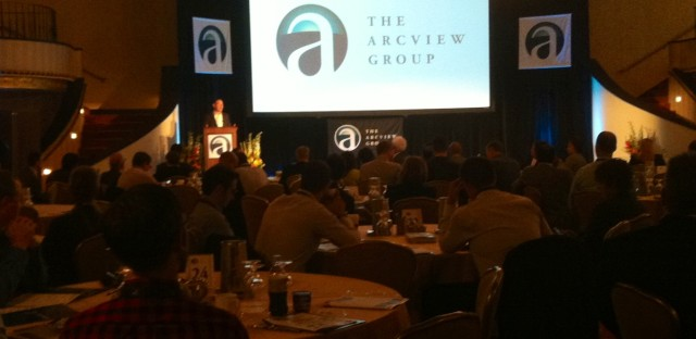 Troy Dayton, ArcView CEO, gives a presentation before cannabis investors.