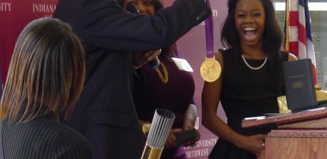 Olympic Champion Gabby Douglas brings big smiles and gold medals to Steel City