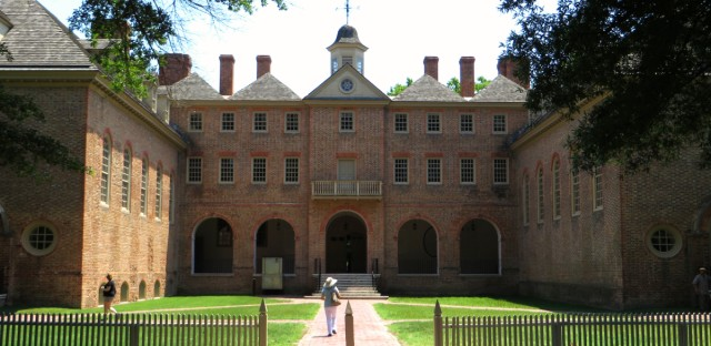 The Sir Christopher Wren Building on the campus of the College of William & Mary in Williamsburg, Virginia is the oldest college building still standing in the United States