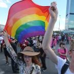 rainbow flag photo poland