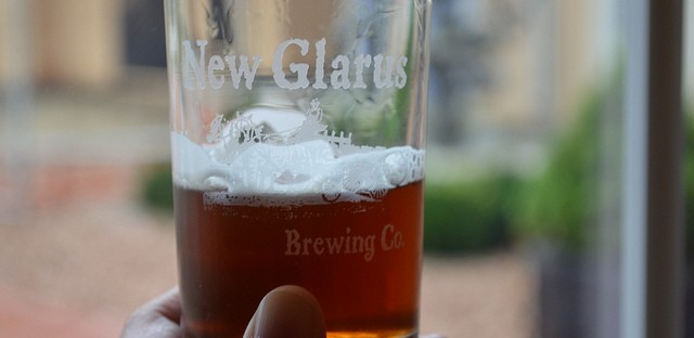 Seasonal Back 40 beer at New Glarus Brewing Company in New Glarus, Wis.
