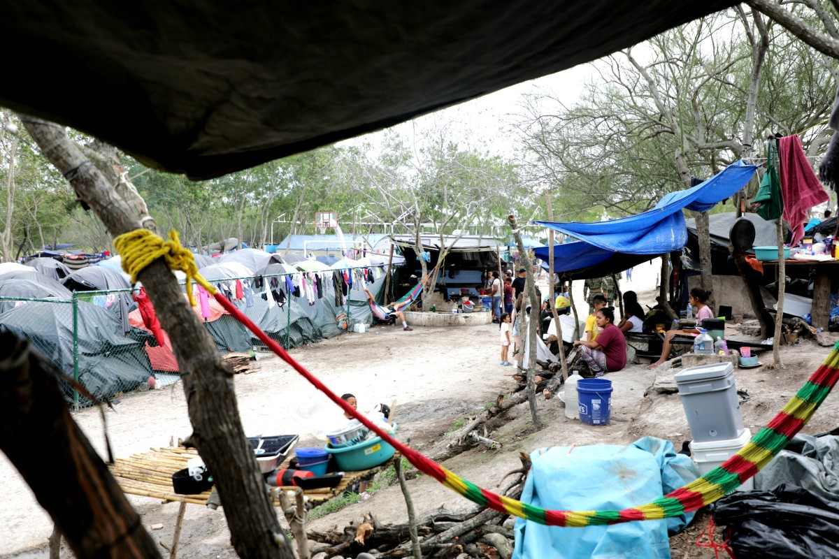 migrant camp in Matamoros