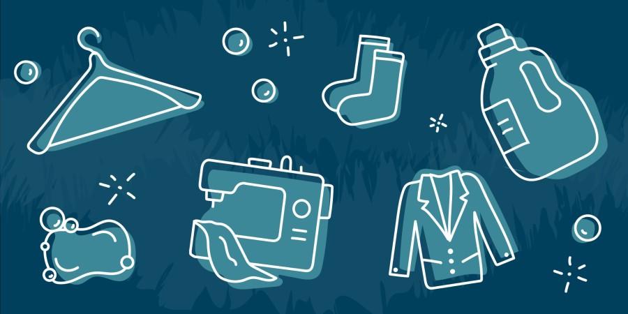 Biz Help Dry Cleaners Illustration