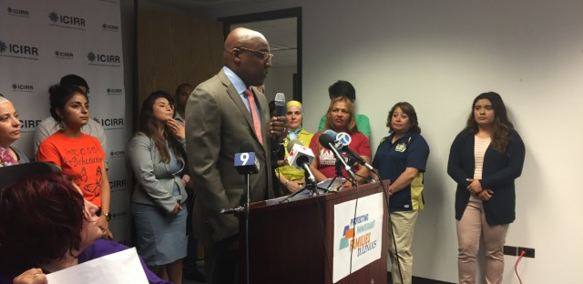 Illinois Attorney General Kwame Raoul and his counterparts in 12 other states have filed a federal lawsuit challenging President Trump's plan to expand public charge rules. Raoul was among several elected officials and community leaders who denounced the plan at a Thursday morning press conference in downtown Chicago.