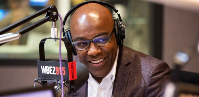 Democratic State Sen. Kwame Raoul at WBEZ studios