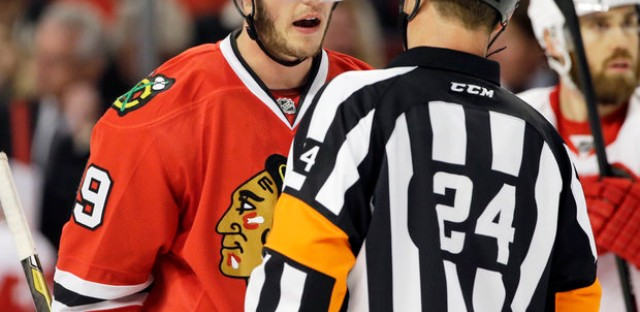 Captain Jonathan Toews hopes for more playoff action after today.