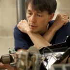 Matt McEntee (left) works on fixing a small motor with Tim Ledlie at the Mt. Pleasant Library in Washington, D.C., on Sunday.