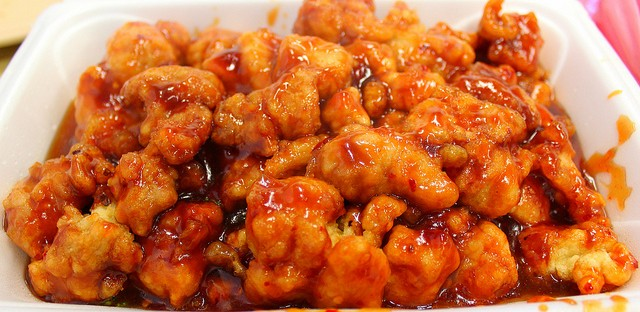 General Tso's Chicken at Chinatown Cafe in Chicago