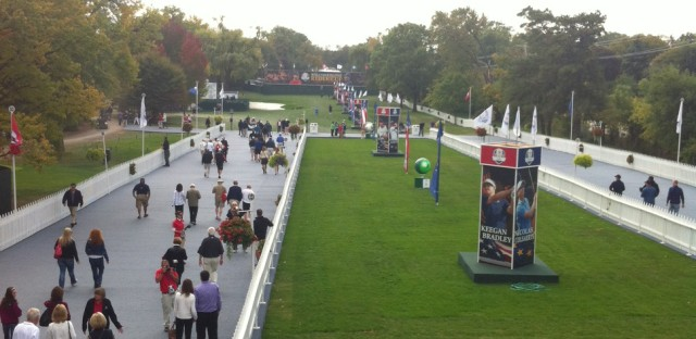 The main entrance to the Ryder Cup.