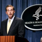 Alex Azar, who was deputy secretary for Health and Human Services in the George W. Bush administration, is President Trump's pick to replace Dr. Tom Price as head of the department. Evan Vucci/AP