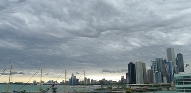 End of the world weather hits the WBEZ roof