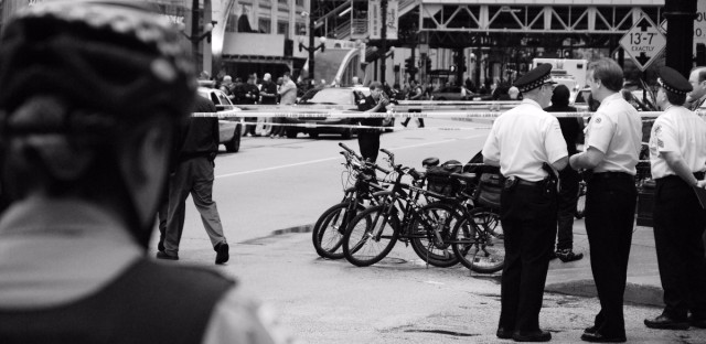 Chicago Police At A Crime Scene