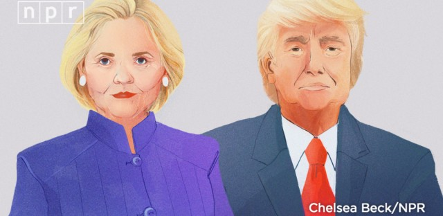 Trump Clinton NPR Illustration