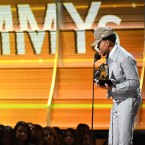 Chance the Rapper accepts the award for Best New Artist during the 59th GRAMMY Awards, on February 12, 2017 in Los Angeles.