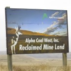 Reclaimed land that was once mined for coal in Wyoming's Powder River Basin. When coal companies declare bankruptcy, funding for land reclamation becomes a question