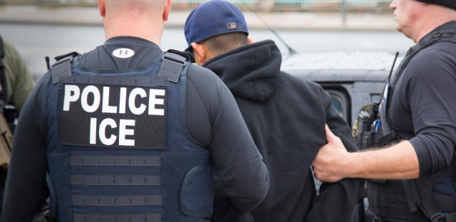 In this Tuesday, Feb. 7, 2017, photo released by U.S. Immigration and Customs Enforcement shows foreign nationals being arrested this week during a targeted enforcement operation conducted by U.S. Immigration and Customs Enforcement (ICE) aimed at immigration fugitives, re-entrants and at-large criminal aliens in Los Angeles. Immigrant advocates on Friday, Feb. 10, 2017, decried a series of arrests that federal deportation agents said aimed to round up criminals in Southern California but they believe mark a shift in enforcement under the Trump administration.
