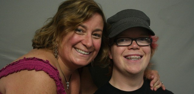 Heather Saylor brought her son, Ben Saylor, to the MobileBooth in order to document his viewpoint growing up as a dwarf.
