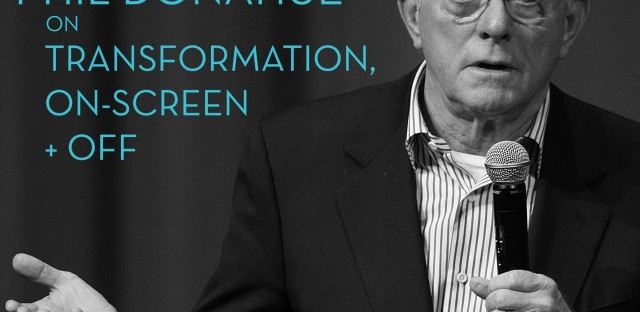 On Being : Phil Donahue — Transformation, On-Screen and Off Image