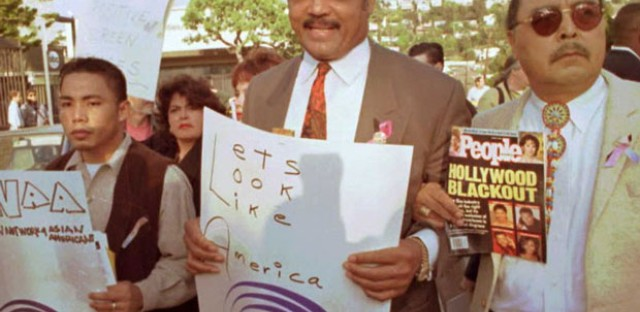 Jesse Jackson and members of the Rainbow Coalition protested the 68th Annual Academy Awards in 1996 for not producing more motion pictures with minorities.