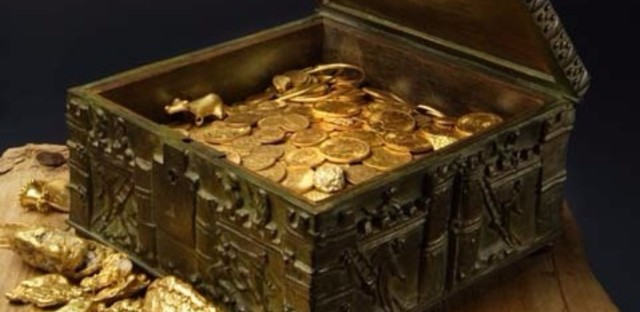 Forrest Fenn's treasure is in an ornate, Romanesque box that might be filled with gold nuggets, gold coins and other gems. Courtesy of Forrest Fenn
