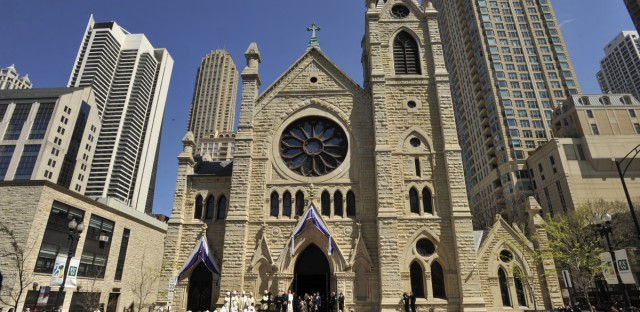 Holy Name Cathedral photographed in Chicago, Thursday, April 23, 2015.