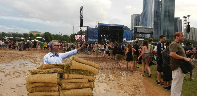 For Rahm's 100th day, he should personally re-sod Grant Park
