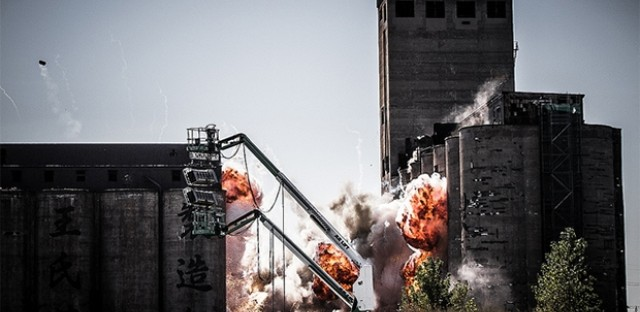 "Explosion for ""Transformers 4."""