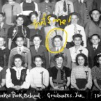 Ed Kramer visited Chicago's Union Stock Yards with his 8th grade class in 1941.