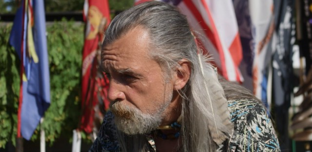 Joe Hock is a member of the Anishinaabe Crane Clan and was a water protector during the Standing Rock protests.