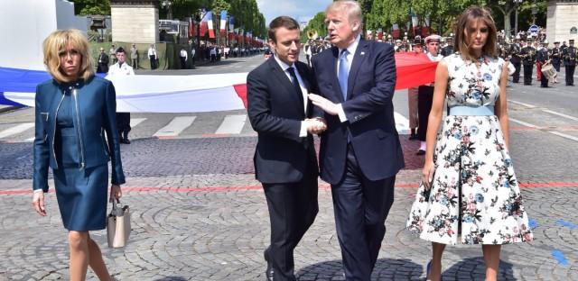 Emmanuel Macron and President Trump