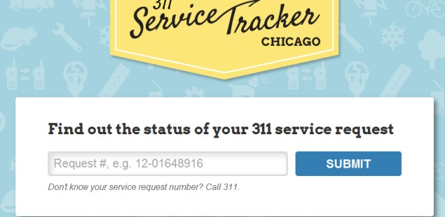 Chicago launches 311 service tracker