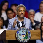 Mayor of Chicago Lori Lightfoot speaks during her inauguration ceremony Monday, May 20, 2019, in Chicago.