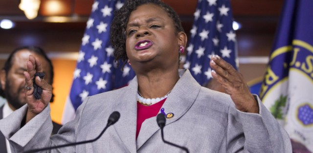 Rep. Gwen Moore (shown in 2012) has introduced a bill that would mandate drug testing for wealthy Americans before they could claim itemized tax deductions over $150,000. She says the bill is intended not so much as a statement about the rich but about the poor.