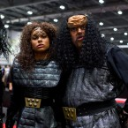 Star Trek fans dress as Klingons during the Destination Star Trek event at ExCel on Oct. 3, 2014, in London.
